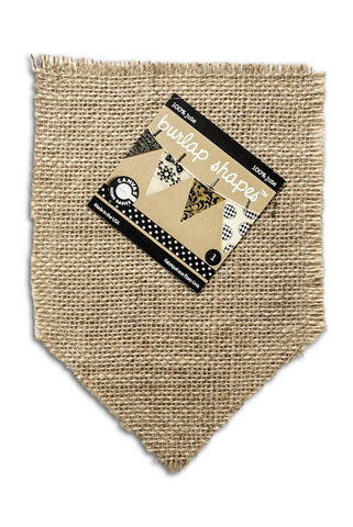 Burlap Shape - Pocket