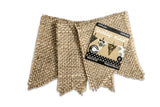 Burlap Mini Banner Shapes - Flags 18 Pieces