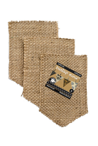 Burlap Mini Shapes - Pockets (3 pieces)
