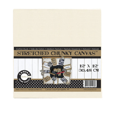 Stretched Natural Canvas - 12 x 12 Chunky