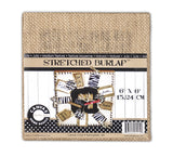 Stretched Natural Burlap - 6 x 6