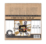 Stretched Natural Burlap - 8 x 8 Chunky