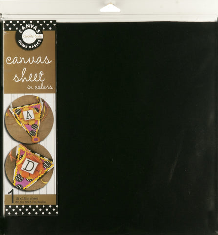 12x12 Canvas Sheet - Black