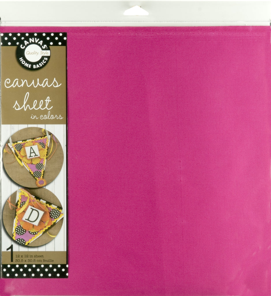 12x12 Canvas Sheet - Hot Pink