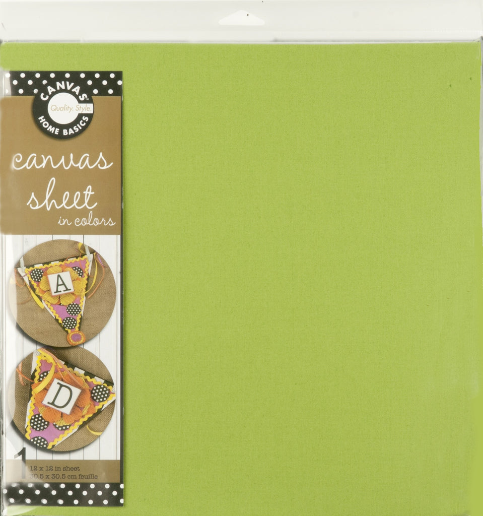12x12 Canvas Sheet - Green