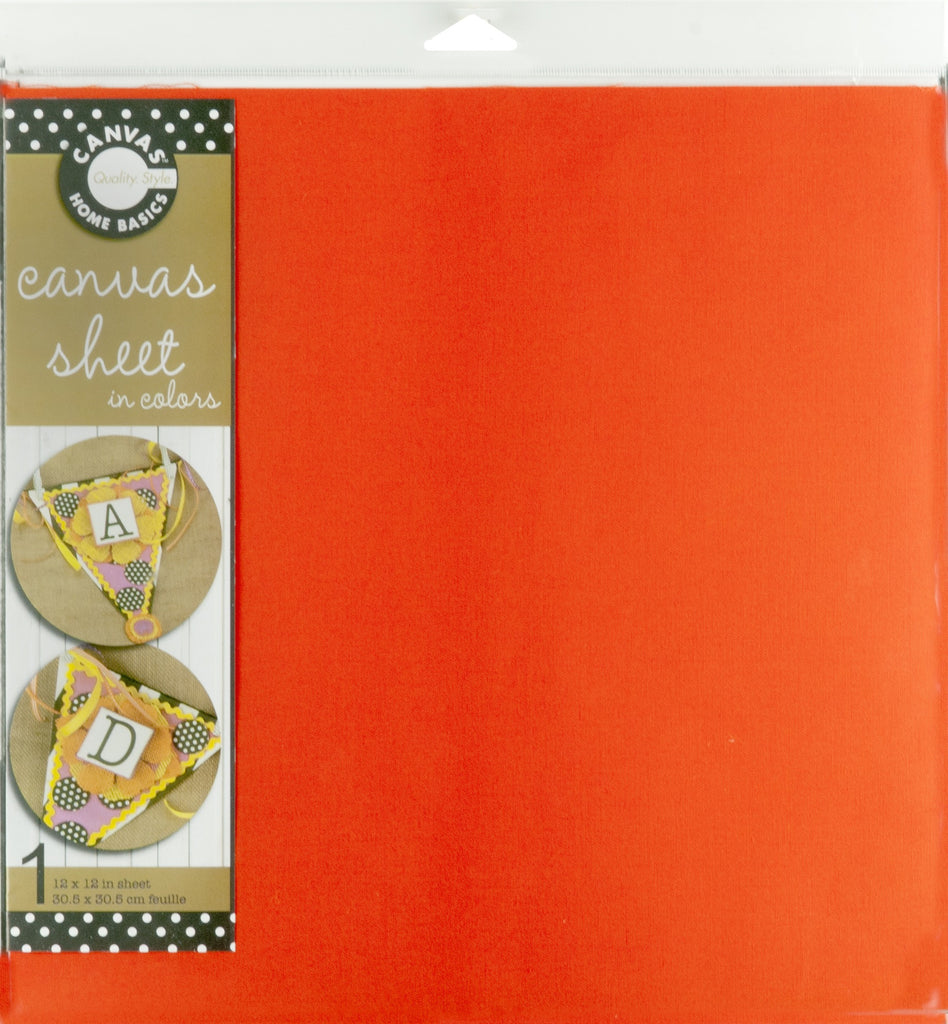 12x12 Canvas Sheet - Orange