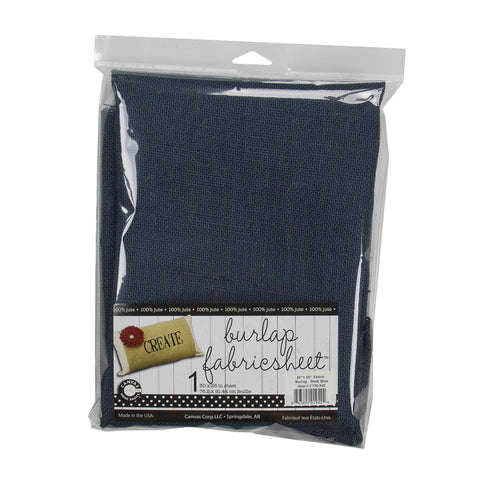 "Burlap Fabric - 30""x36"" - Dark Blue"