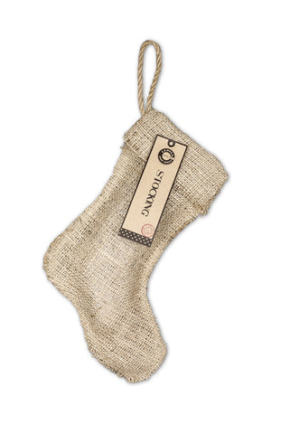 "Christmas Stocking Burlap - Small 8""x10.5"""