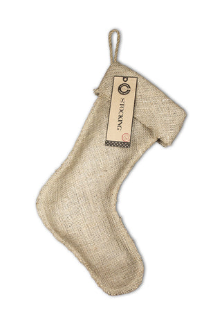 "Christmas Stocking Burlap -  Large 11"" x 17"""