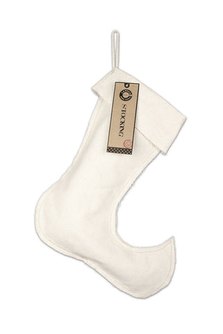 "Christmas Stocking Blank Canvas Large Jester 13.5"" x 17"""