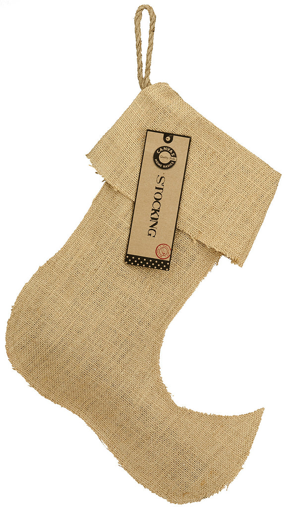 "Christmas Stocking Burlap - Large Jester 13.5"" x 17"""
