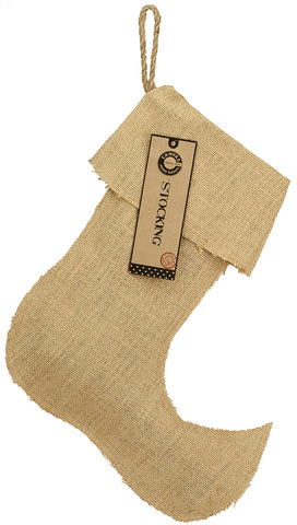 "Stocking Burlap - Large Jester 13.5"" x 17"""
