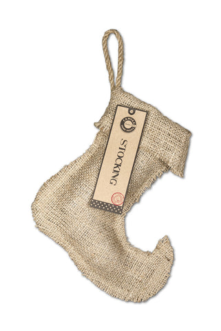 "Stocking Burlap - Small Jester  8.25"" x 9"""