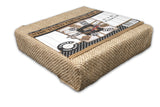 Stretched Natural Burlap - 12 x 12 Chunky