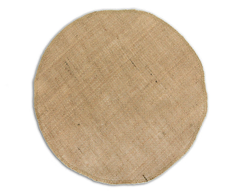 Burlap Round ( Charger/Floral Wrap) - 12""