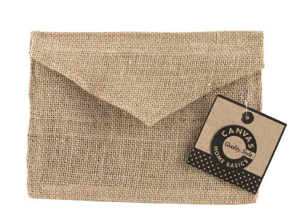 "Fabric Envelope - 5""x7'' - Burlap"
