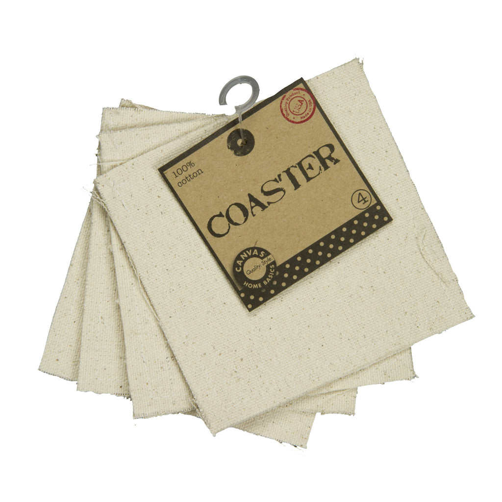 "Coasters - Canvas Square 4"" (4 pieces)"