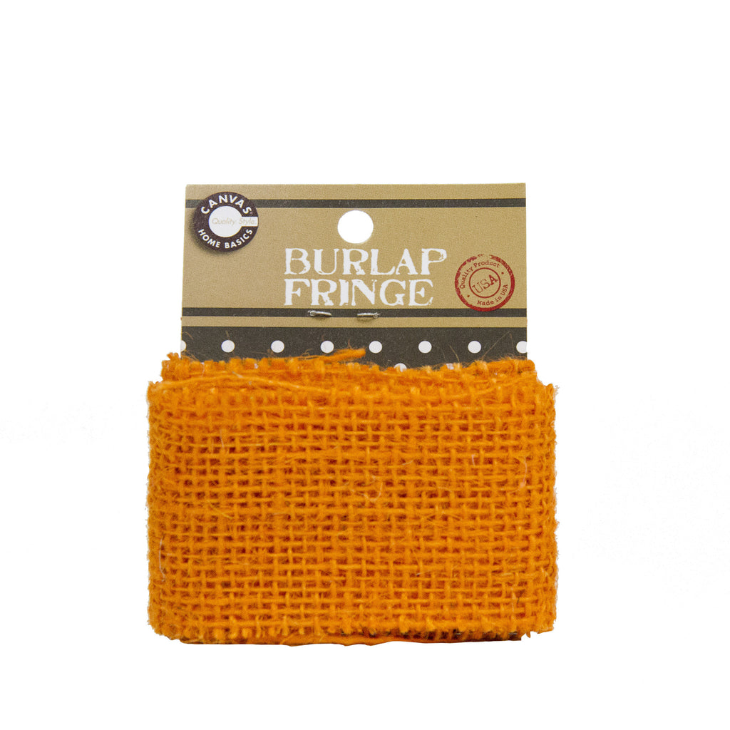 Burlap Fringe - Orange