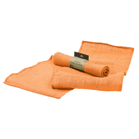 Table Runner - Orange Burlap