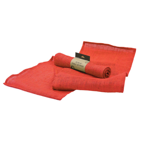 Table Runner - Red Burlap