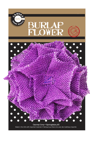 Burlap Flower - Purple