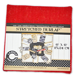 Stretched Burlap 6 x 6 - Red