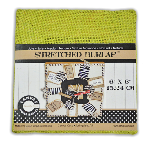 Stretched Burlap 6 x 6 - Avocado