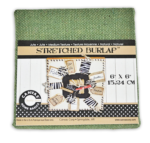 Stretched Burlap 6 x 6  - Hunter