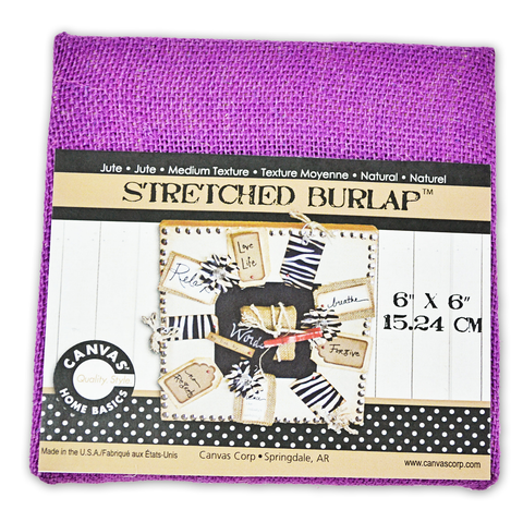 Stretched Burlap 6 x 6  - Purple