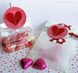 Red and White Mini Heart Paper