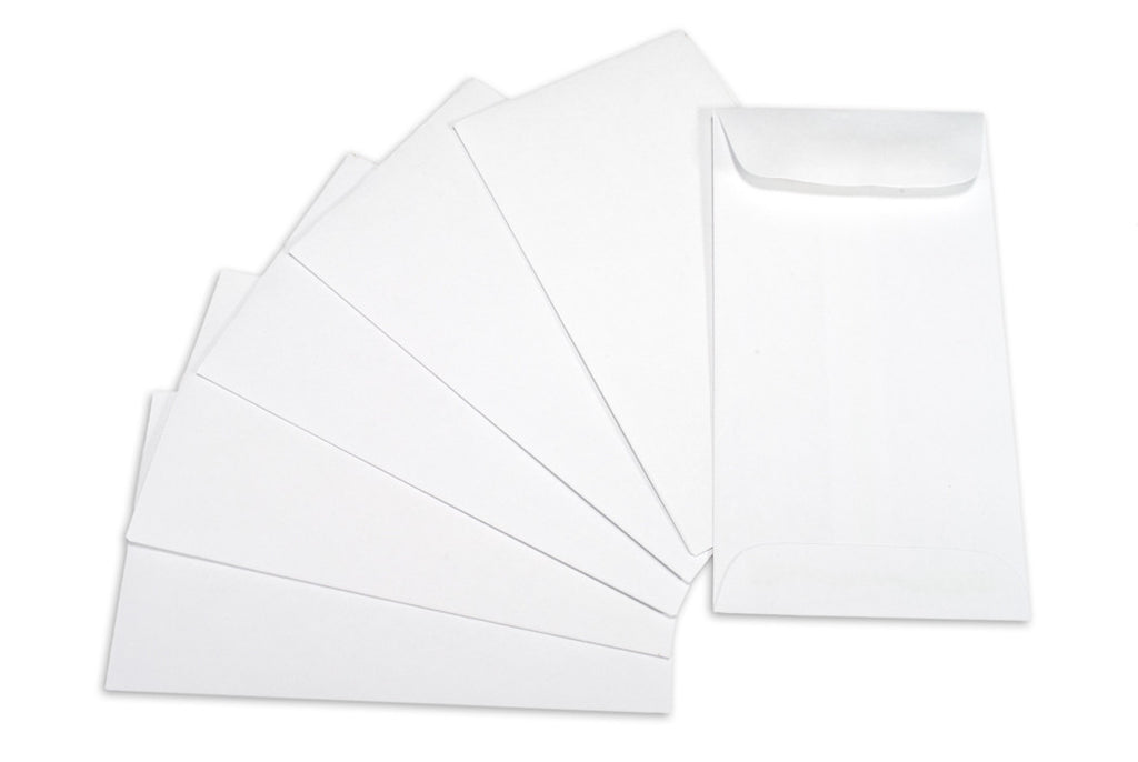 "Coin Envelope - White -4 3 1/8""x5 1/2"" (6)"