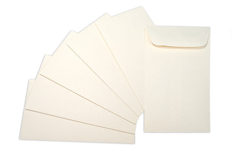 "Coin Envelope - Ivory - 4 3 1/8""x5 1/2""(6)"