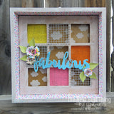 7gypsies 8x8 Shadowbox Insert: Squares: Stained Wood