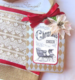 Farmhouse Christmas Tags on Ivory Paper