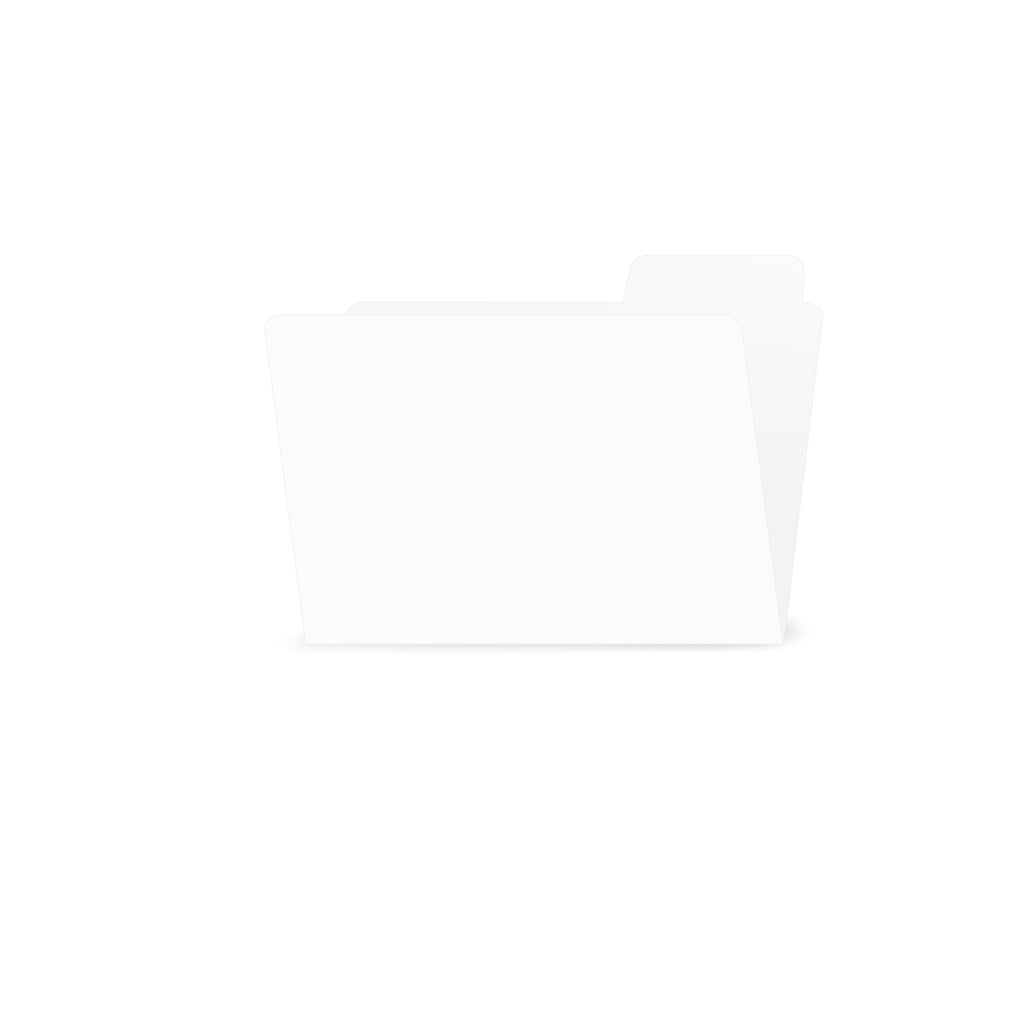 ATC Small File Folder White (6 pieces)