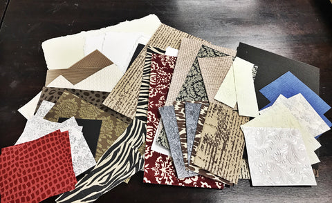 Scraps by the Pound (#) - 1# Handmade and Specialty Paper