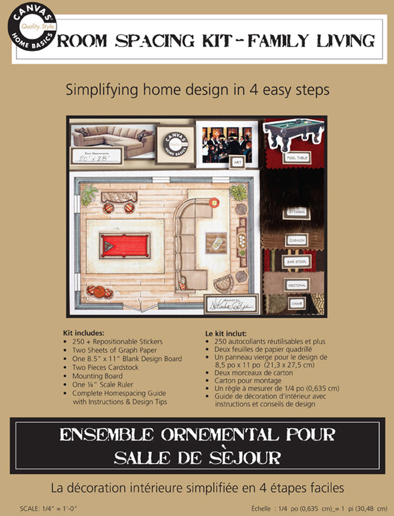 Room Planning & Decorating Kit - Family Living