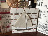 Ship to Shore: Sailboats on Ivory 12x12 Paper