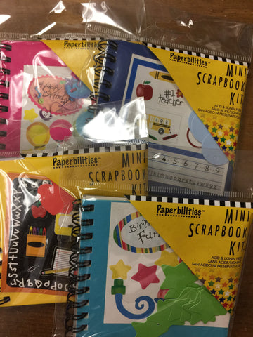 Mini Scrapbook Kits (set of 4 kits)