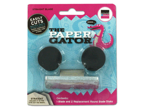 Around The Block Paper Gator - Straight Blade