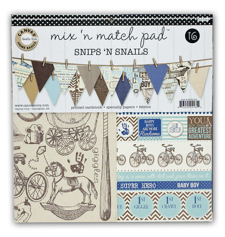 Mix & Match Pad - Snips & Snails