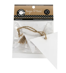 Paper Tags - Triangle -  White