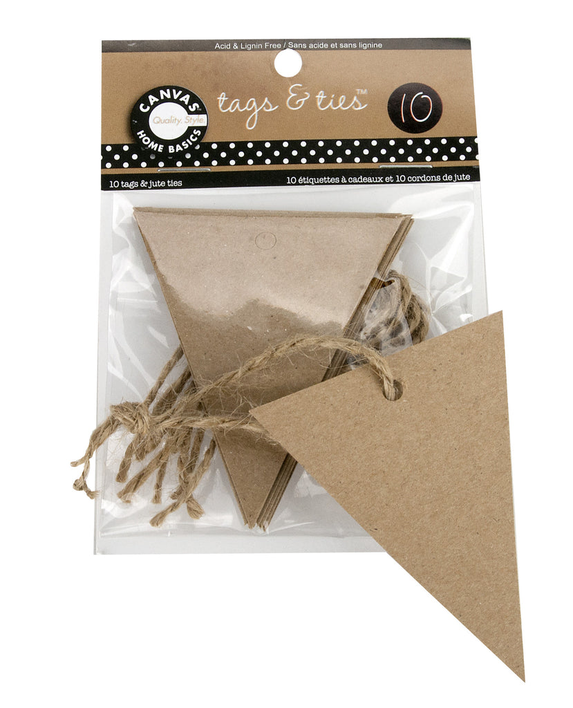 Tags & Ties Triangle - Kraft(10)