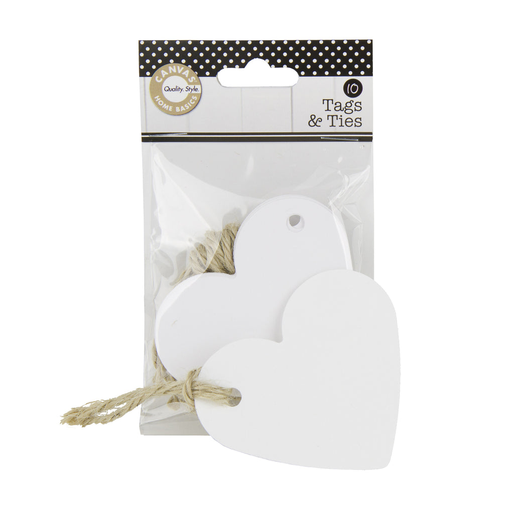 Tags & Ties Heart - White (10)