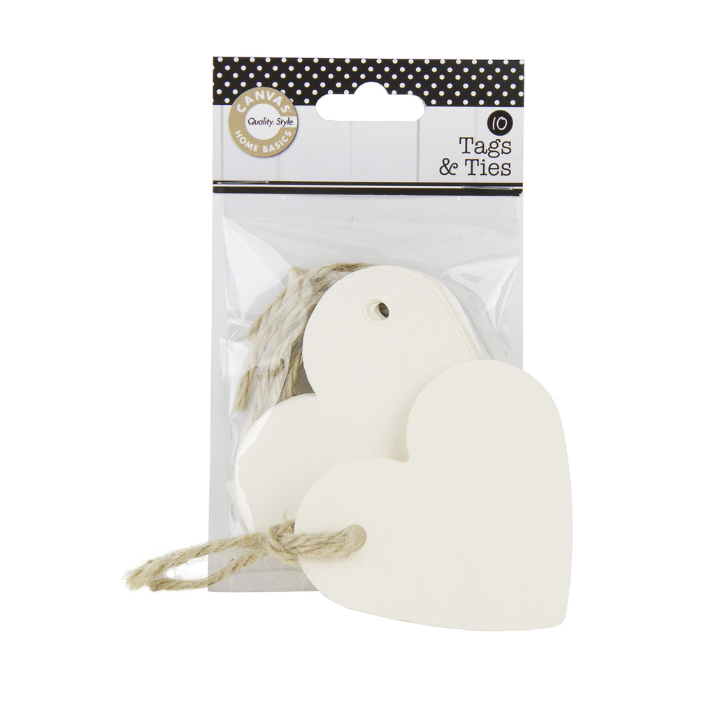 Tags & Ties Heart - Ivory (10)