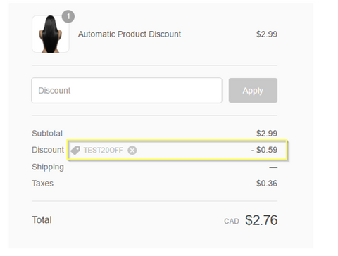 Shopify App Store: Automatic Discount