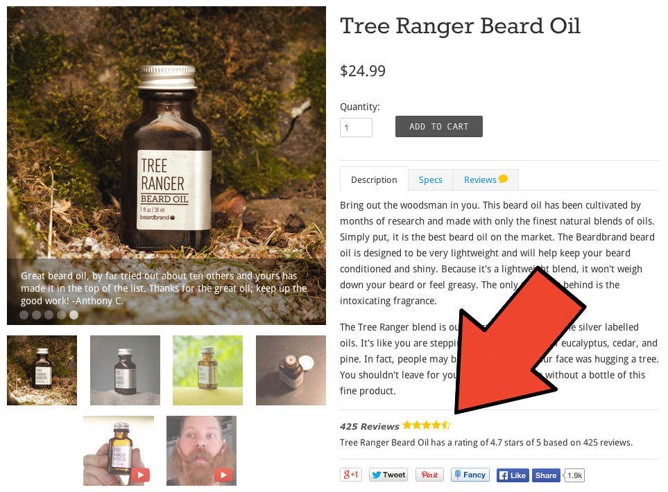 BeardBrand_Evaluations de produits