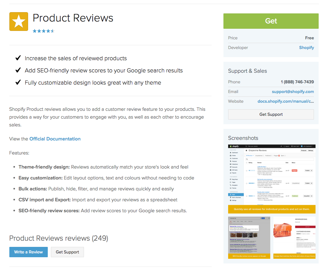 Product Reviews_Application d'évaluation client