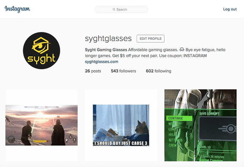 Compte Instagram Syght Glasses