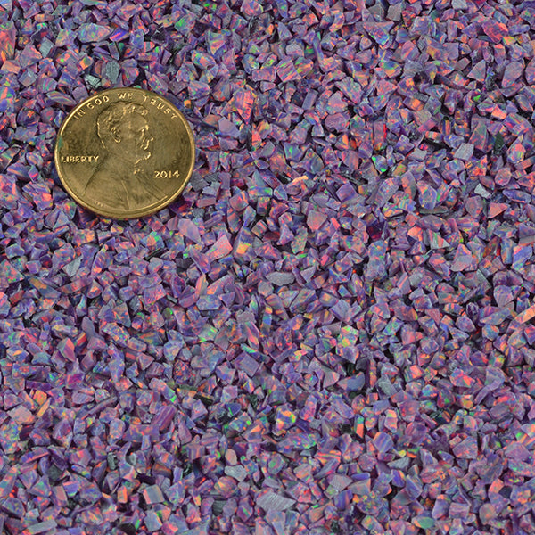 Cultured Opal - Confetti (purple with red and green fire)